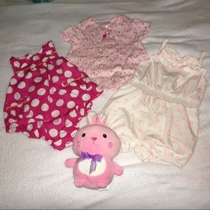 Bundle of cute baby girl's clothes